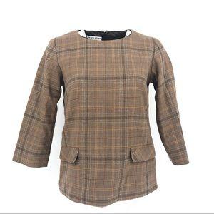 PENDLETON brown checkered top long sleeve 4